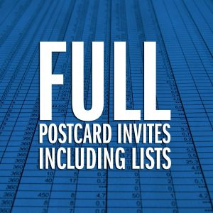 Full Postcard Invites
